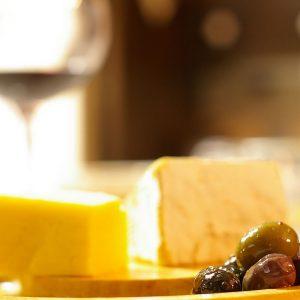 Avantis Santorini greek cheese and wine tasting