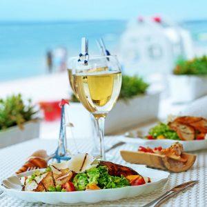 Avantis Santorini Wine tasting with meze